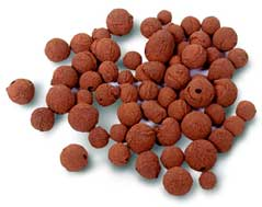 Clay pebbles for dripper system